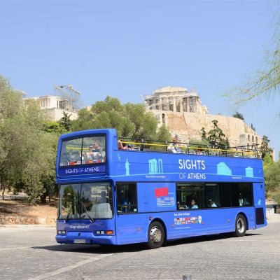 all in one hop on hop off bus tour tickets athens guideandgo. Black Bedroom Furniture Sets. Home Design Ideas
